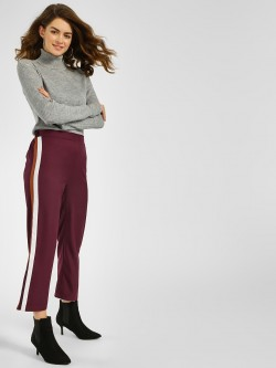 KOOVS Basic Side Contrast Tape Trousers
