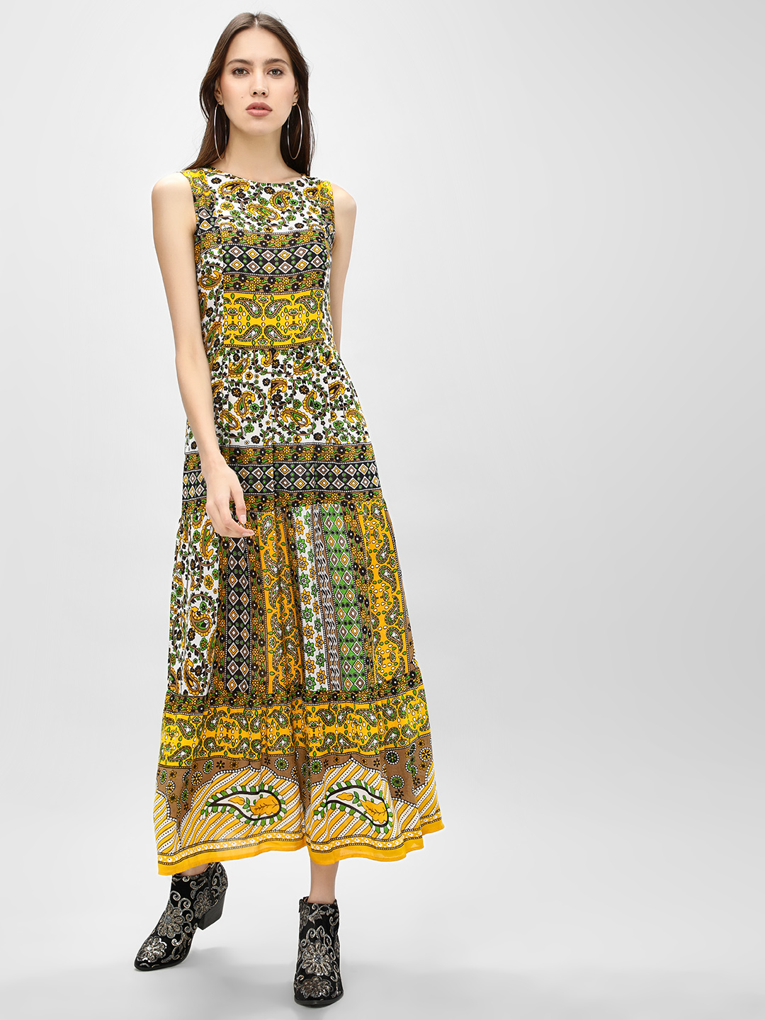 Rena Love Multi Paisley Print Sleeveless Maxi Dress 1
