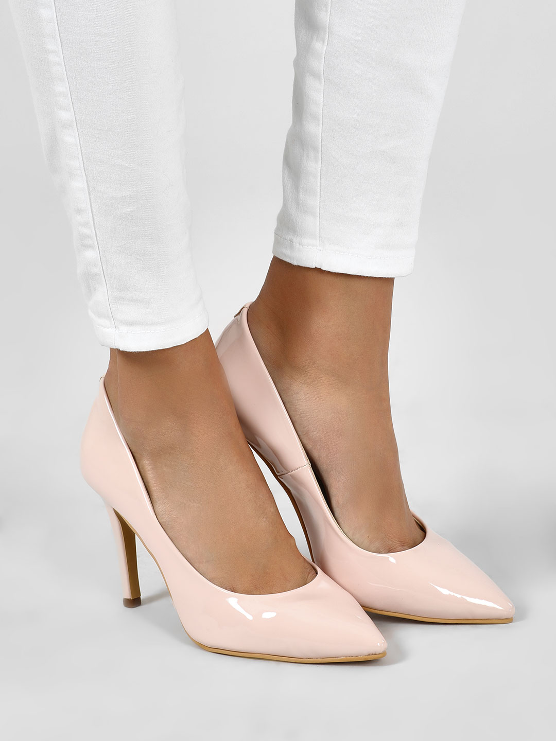 KOOVS Pink Patent Finish Stiletto Pumps 1