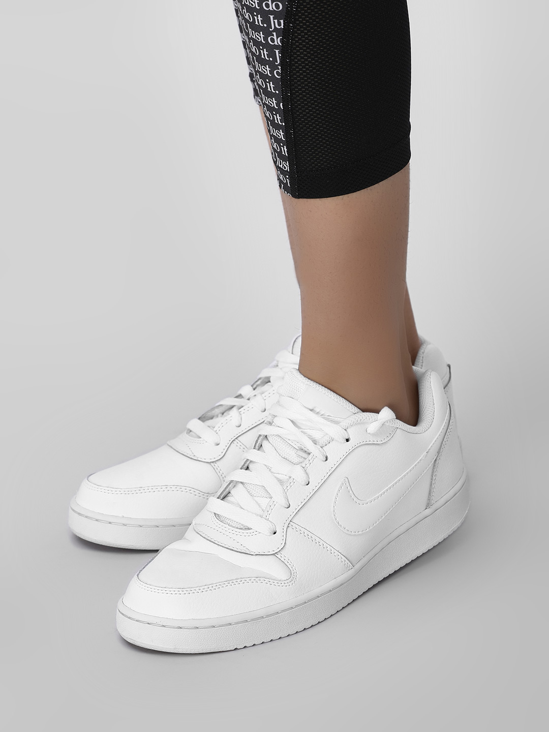Nike White Ebernon Low Sneakers 1
