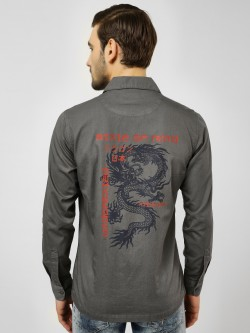 Styx & Stones Casual Back Print Shirt