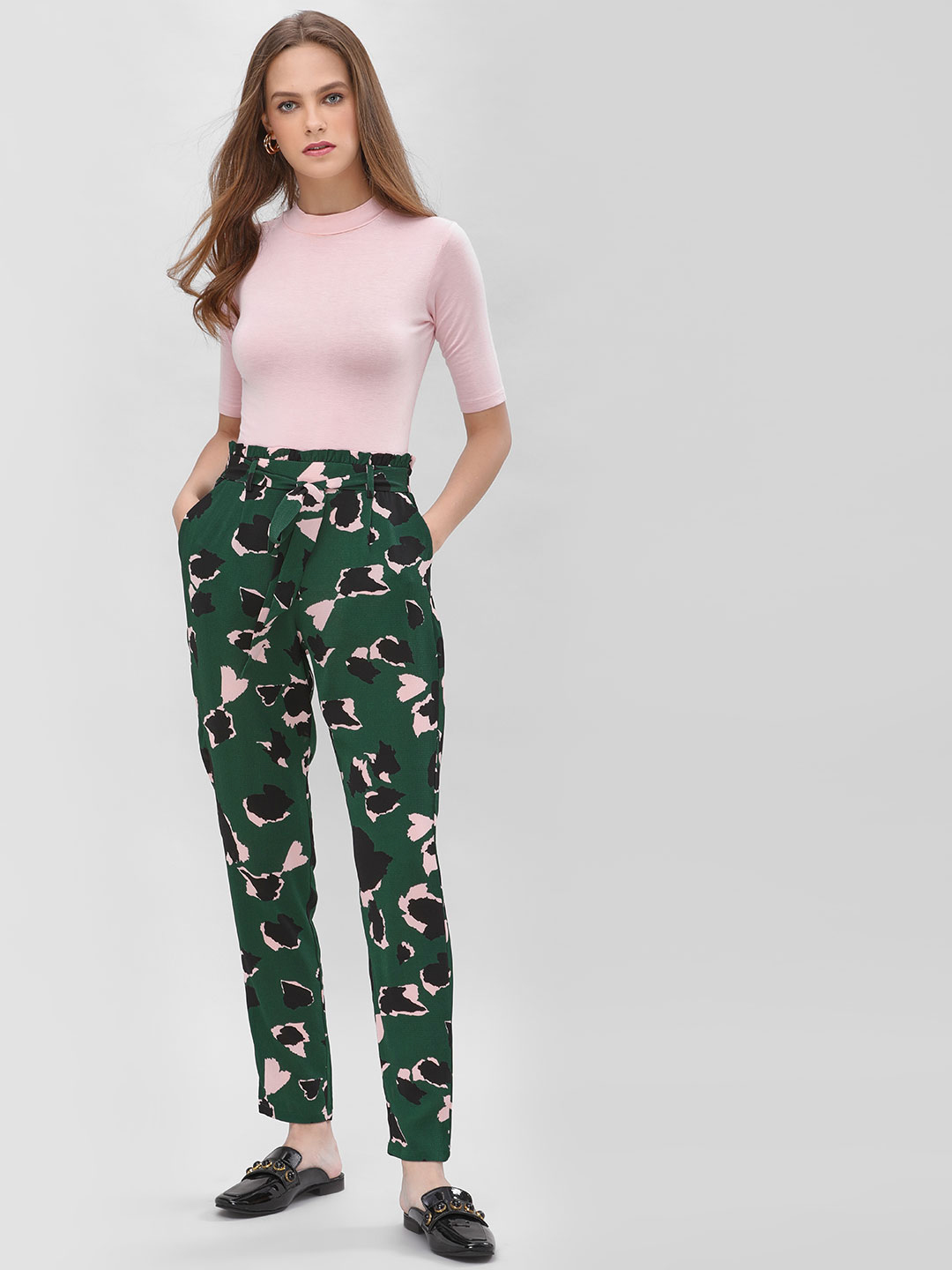 Only Multi Printed Paperbag Waist Trousers 1
