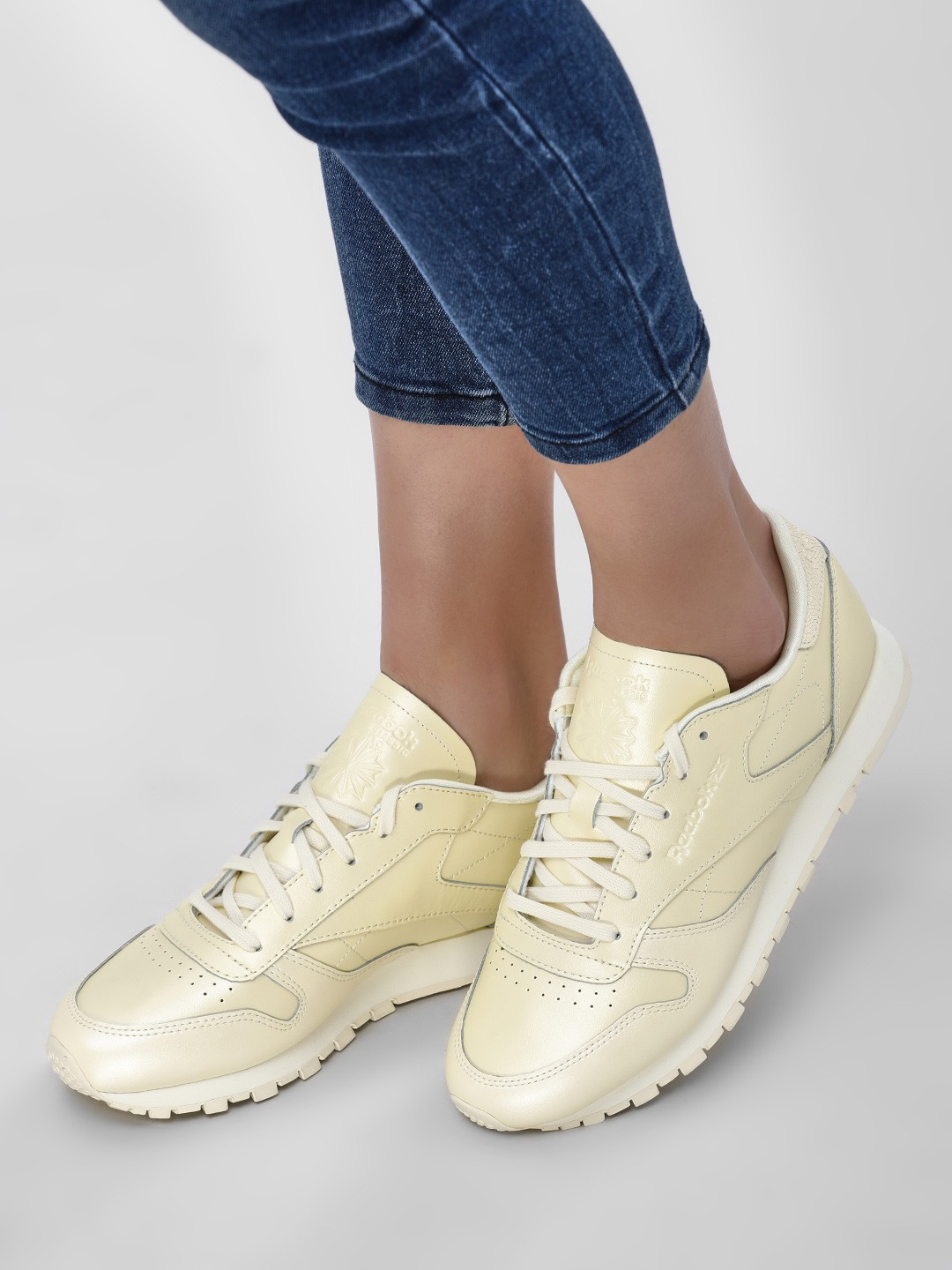 Reebok Classics Yellow Casual Shiny Trainers 1