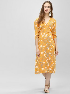 KOOVS Wrap Midi Shift Dress...