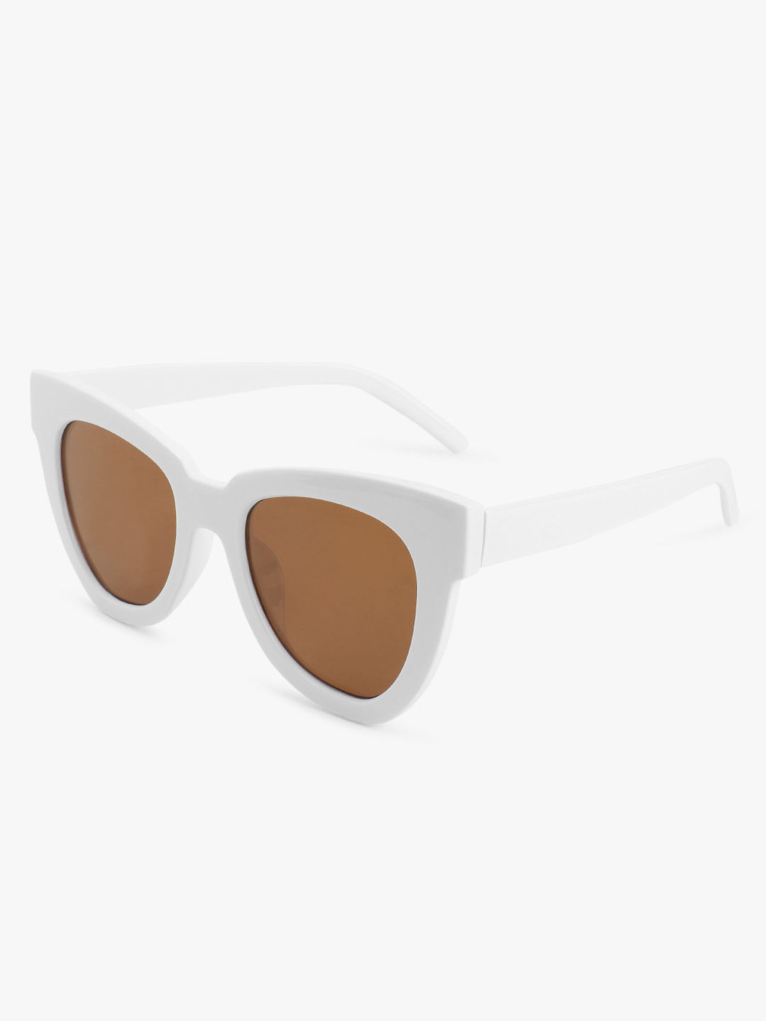 Sneak-a-Peek White Rimmed 70's Sunglasses 1