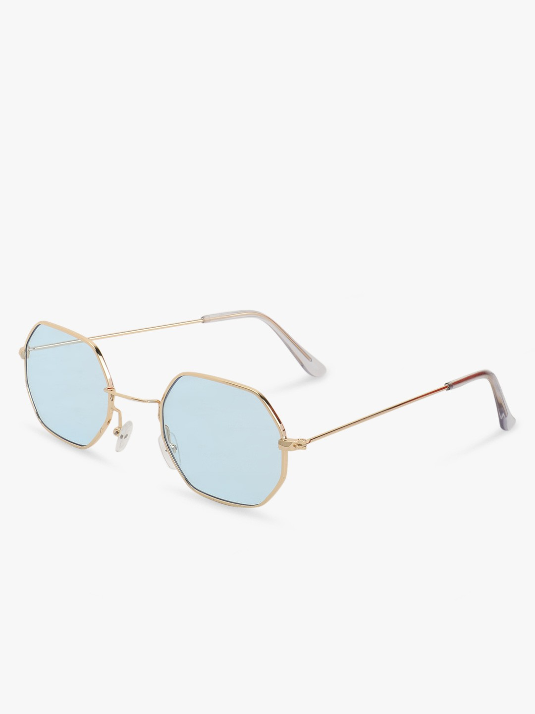 Sneak-a-Peek Blue Octagonal Sunglasses 1