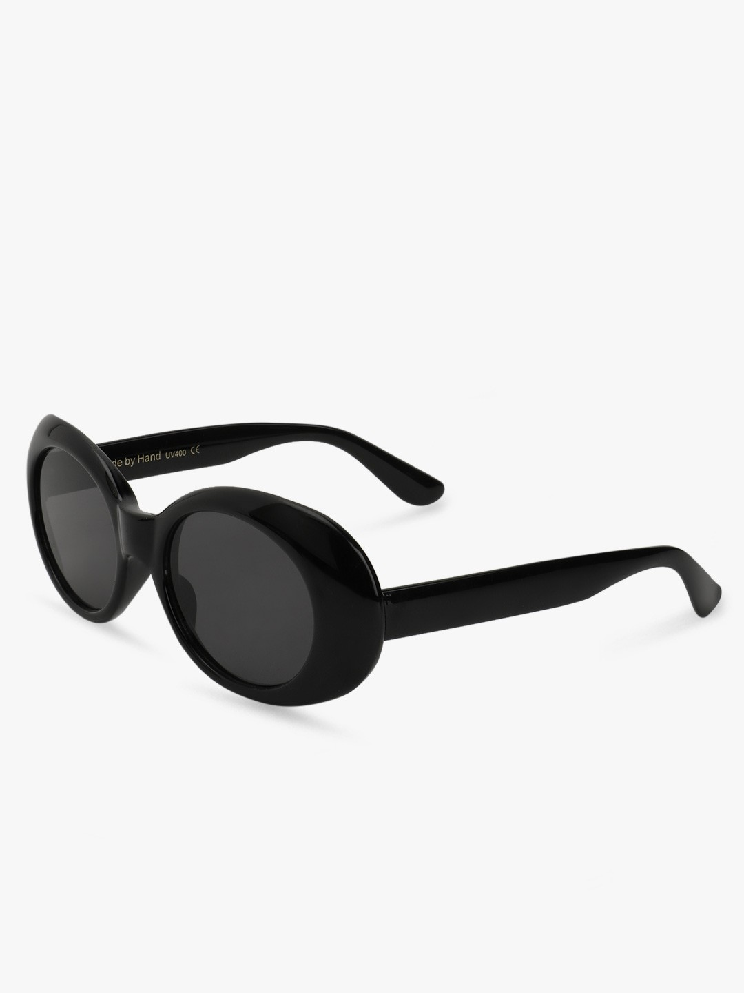 Sneak-a-Peek Black Elliptical Thick Framed Sunglasses 1
