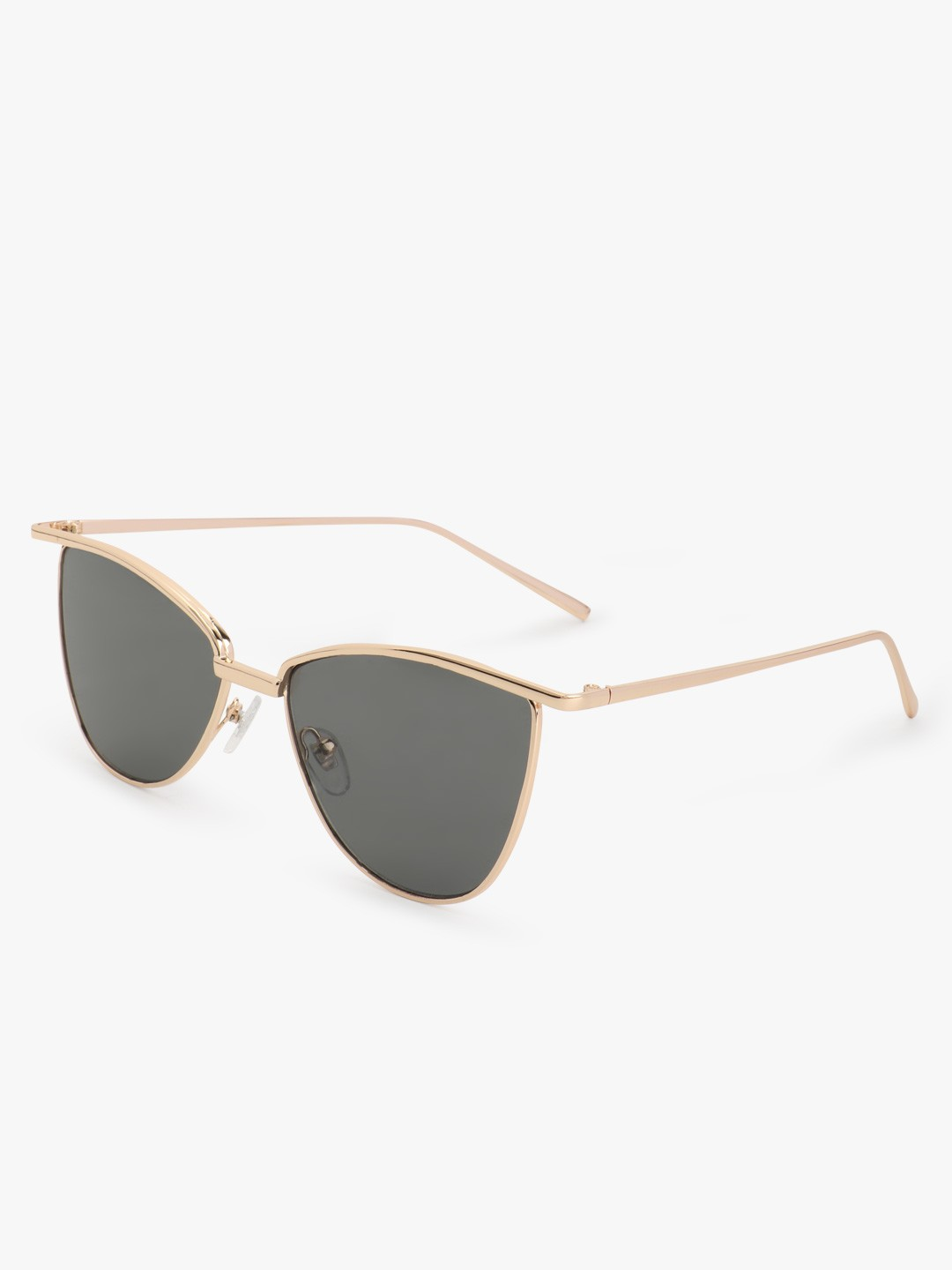 Sneak-a-Peek Black Gold Rimmed Cateye Sunglasses 1