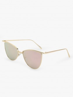 Sneak-a-Peek Gold Rimmed Cateye Sunglasses