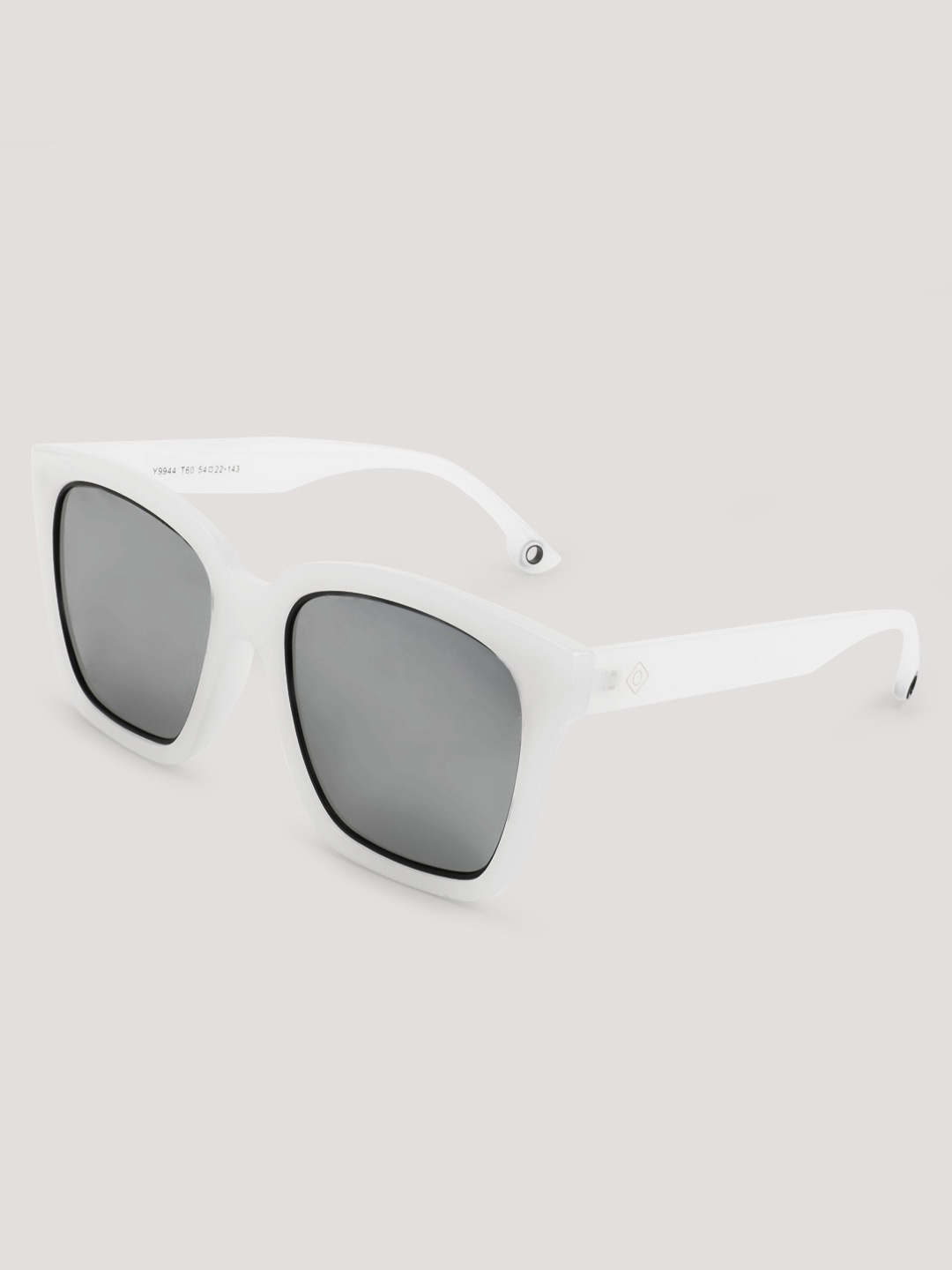 Sneak-a-Peek White Mirrored Square Retro Sunglasses 1