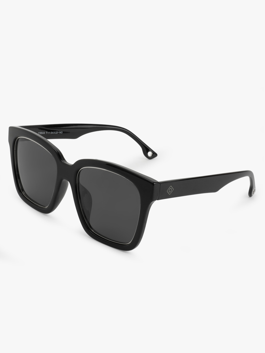 Sneak-a-Peek Black Mirrored Square Retro Sunglasses 1