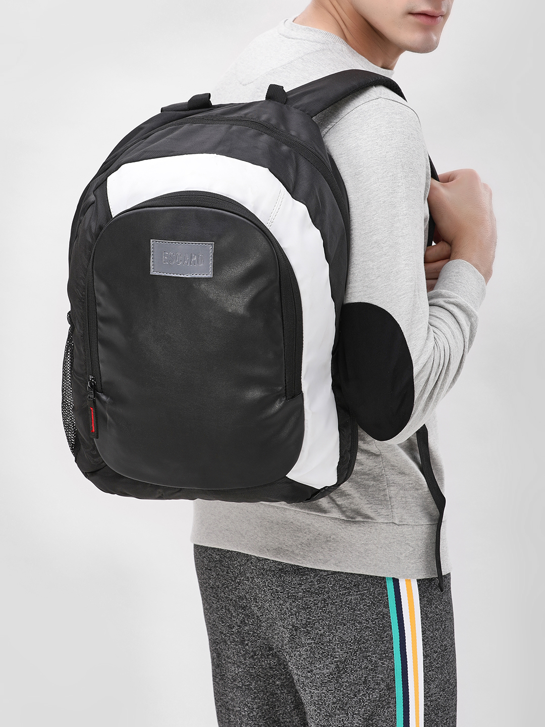 Escaro Black Dual Color Backpack 1