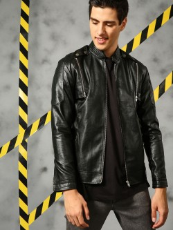 KUNAL RAWAL X KOOVS Detachable Sleeve Biker Jacket