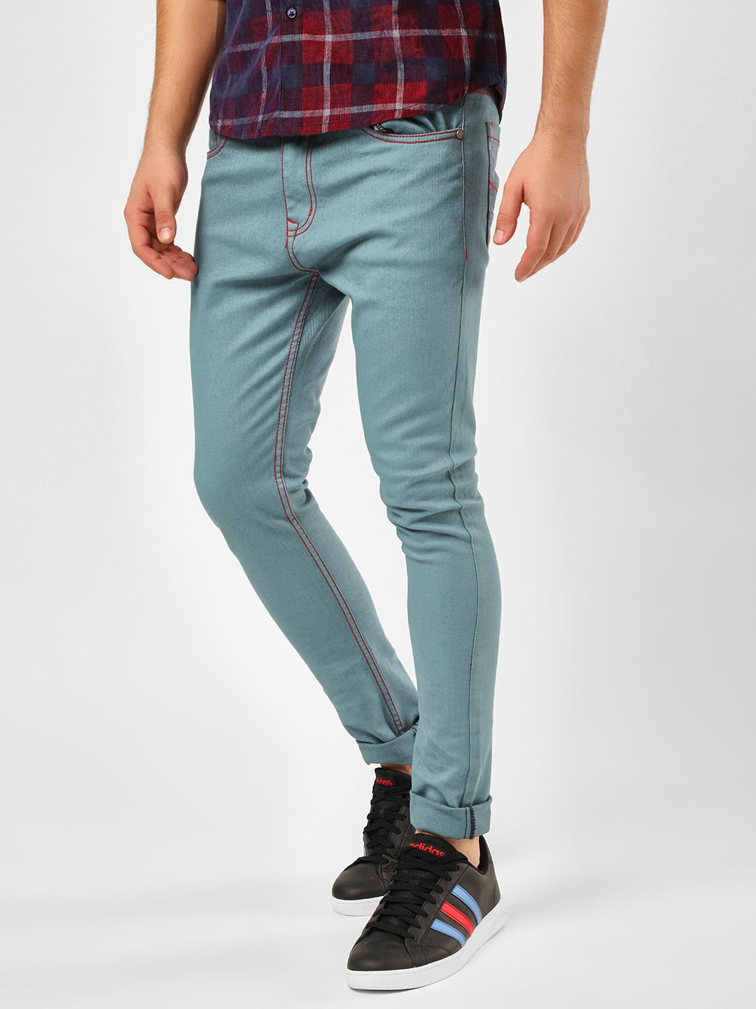 K Denim Blue Over Dyed Skinny Jeans 1