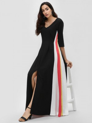 RI-DRESS Side Stripe Flared Ma...