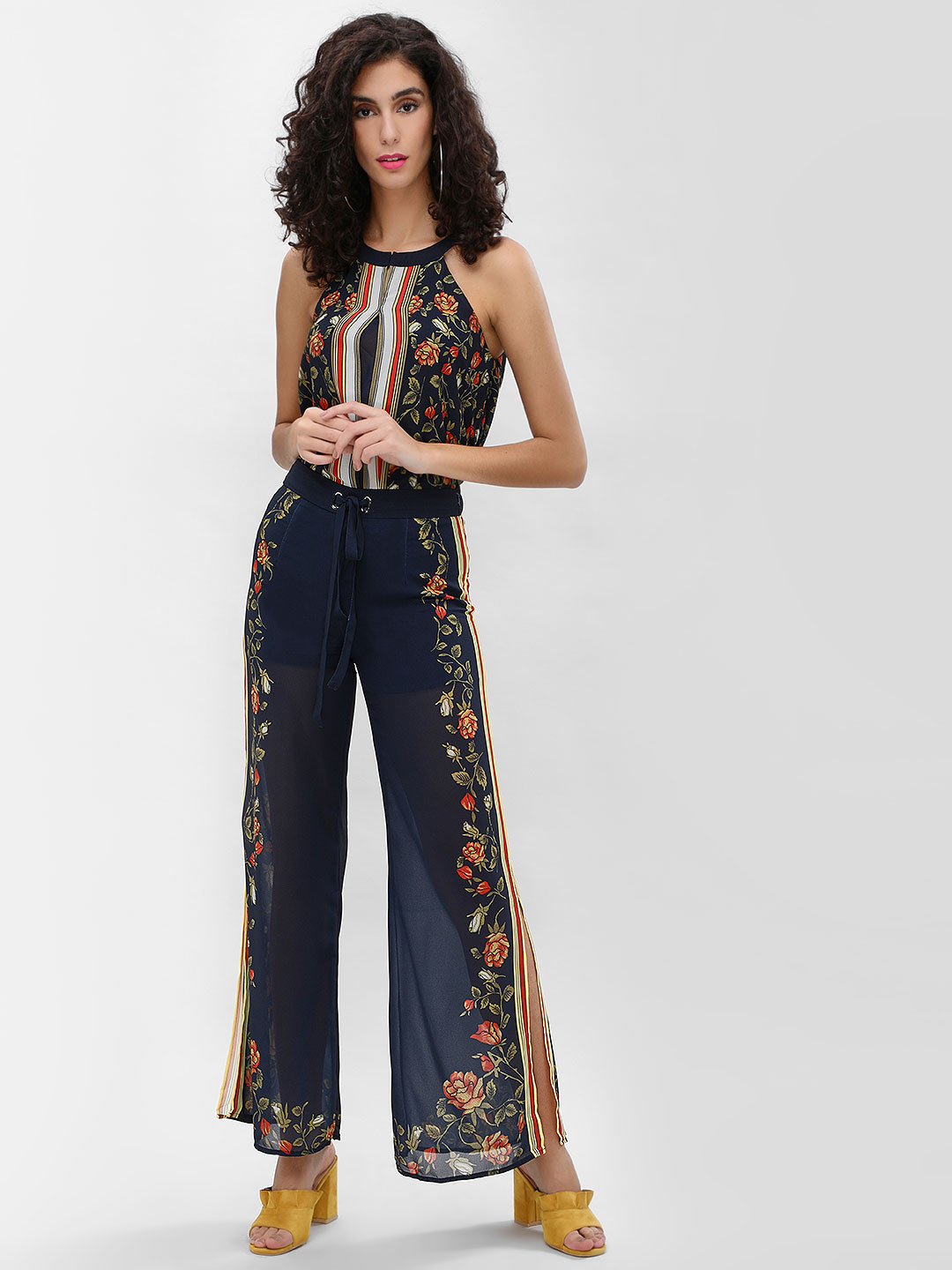 Cover Story Print Printed Co-ord Trousers 1