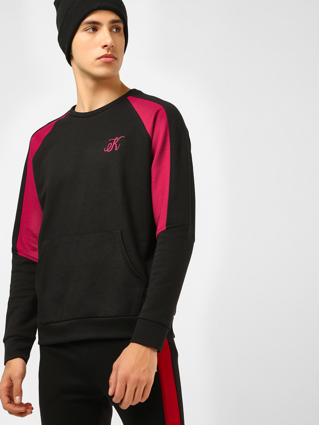 KOOVS Multi Raglan Colour-Blocked Sleeve Sweatshirt 1