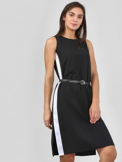 KOOVS Side Tape Shift Dress