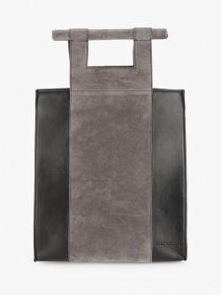 Gusto Suede Colour Block Tote Bag
