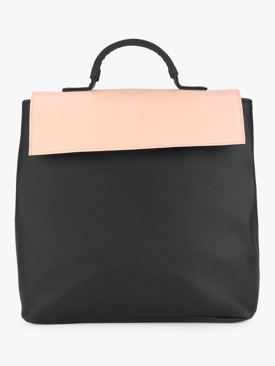 Gusto Black/Pink Structured Backpack 1