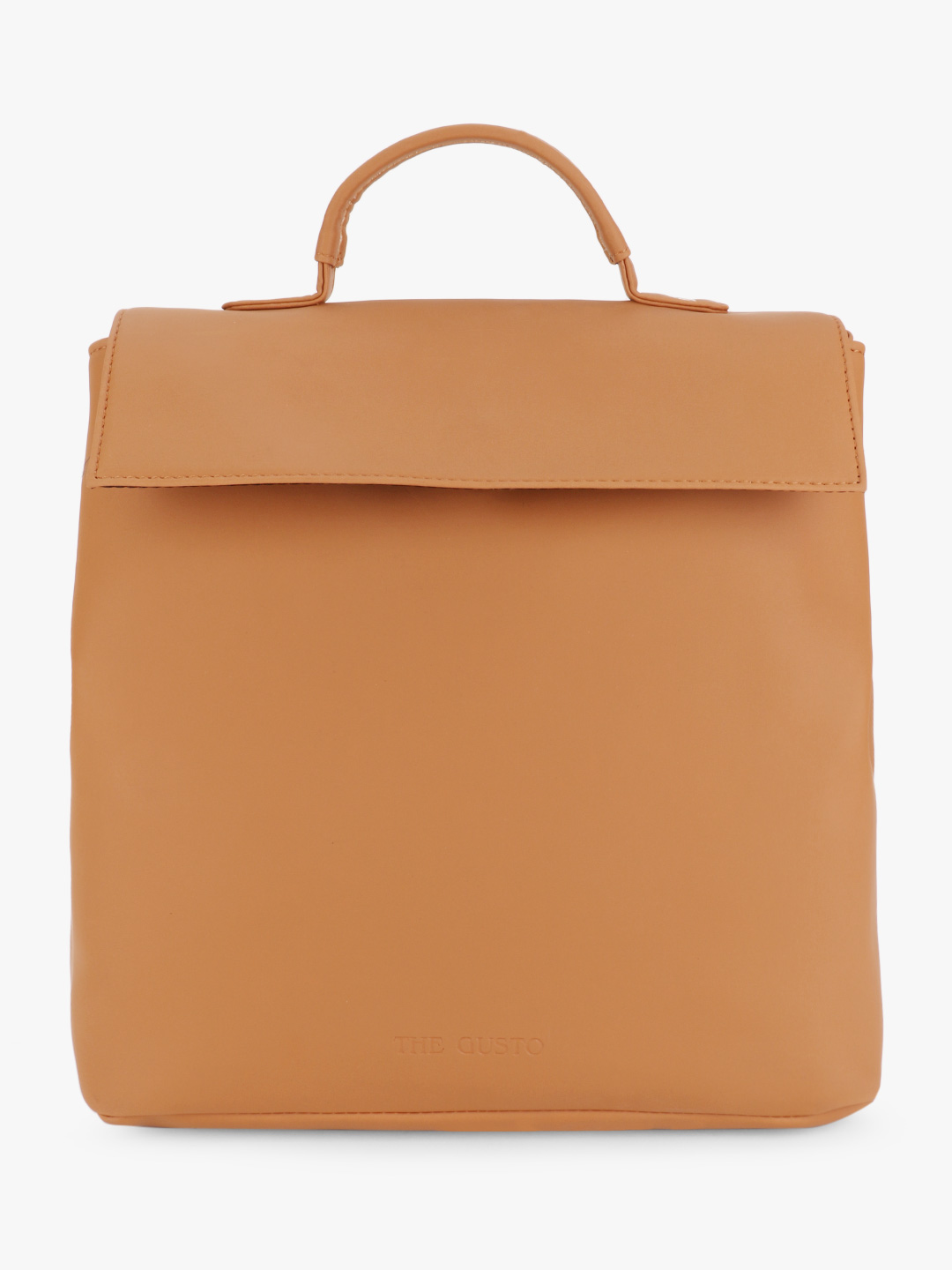 Gusto Brown Structured Backpack 1