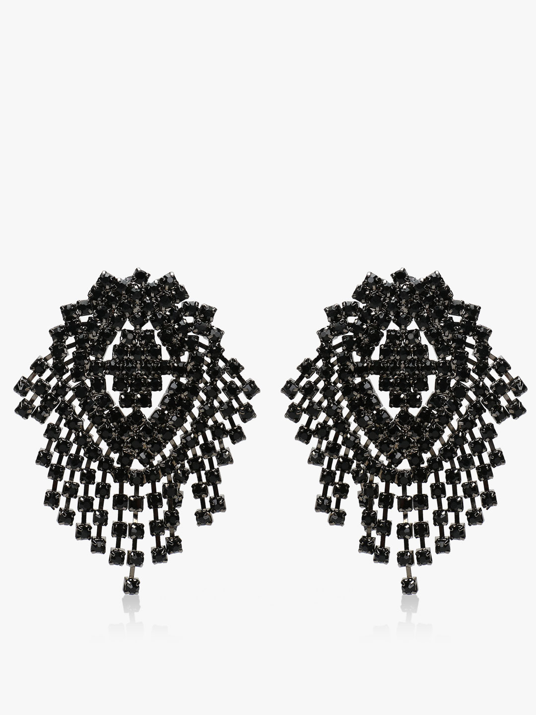 Style Fiesta Black Cluster Crystal Earrings 1