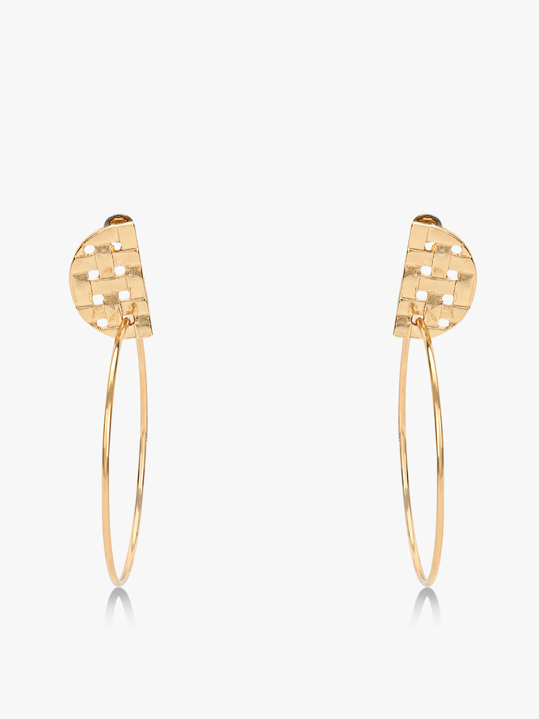Style Fiesta Gold Casual Hoops 1