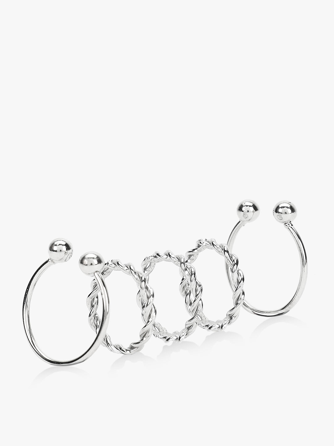 Style Fiesta Silver Bracelet And Finger Ring Set 1