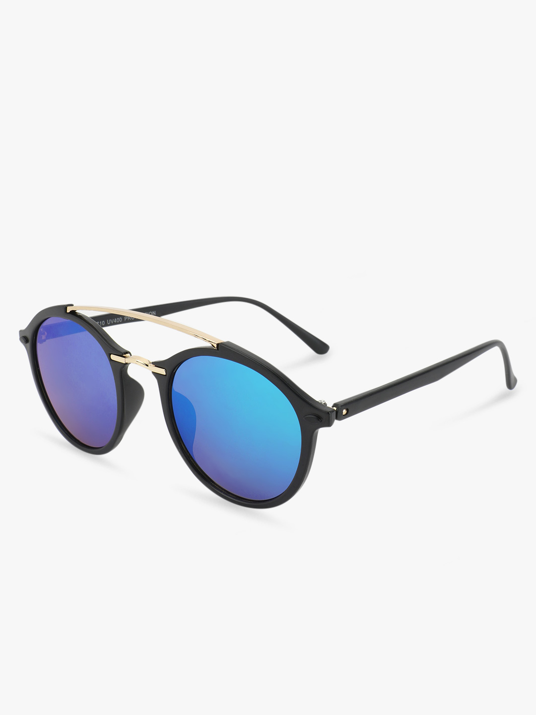 Kindred Blue Coloured Mirror Round Sunglasses 1