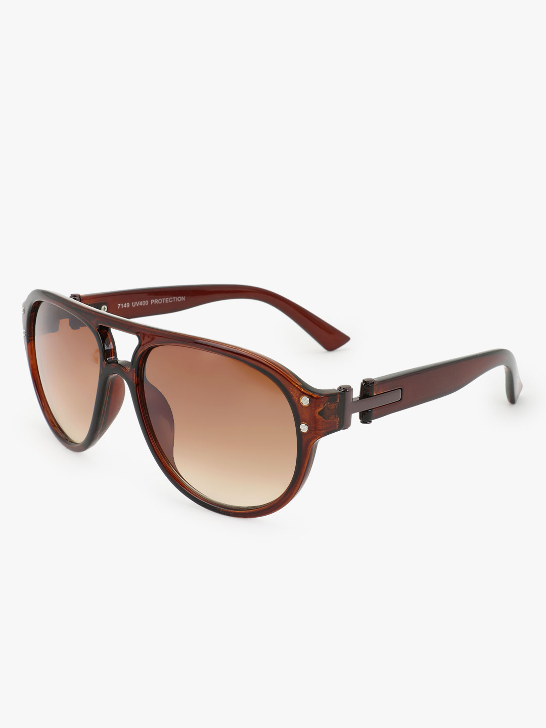 Kindred Brown Double Bridge Pilot Sunglasses 1