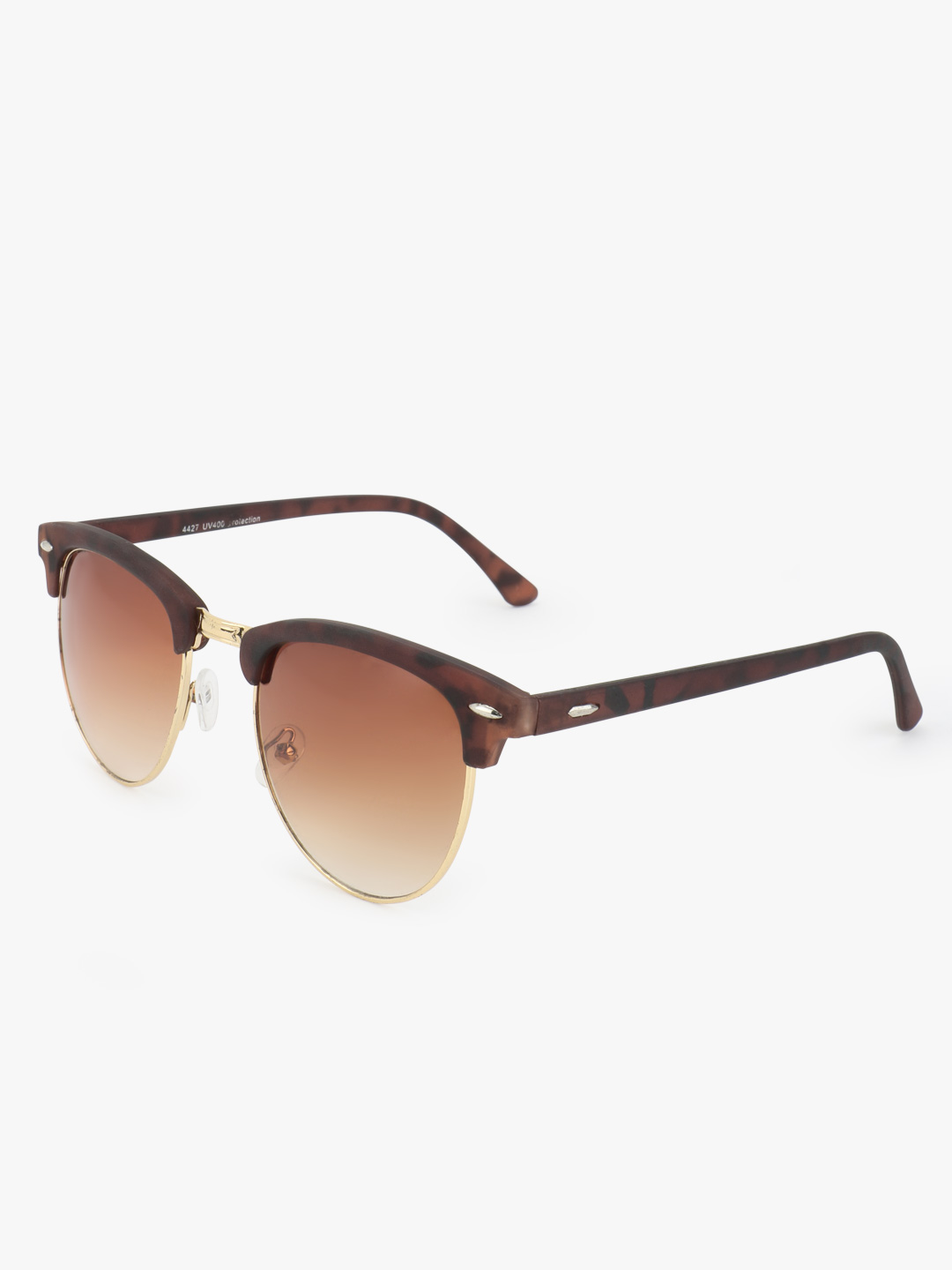 Kindred Brown Print Frame Retro Sunglasses 1