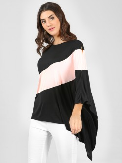 Femella Colour Block Over Sized Top