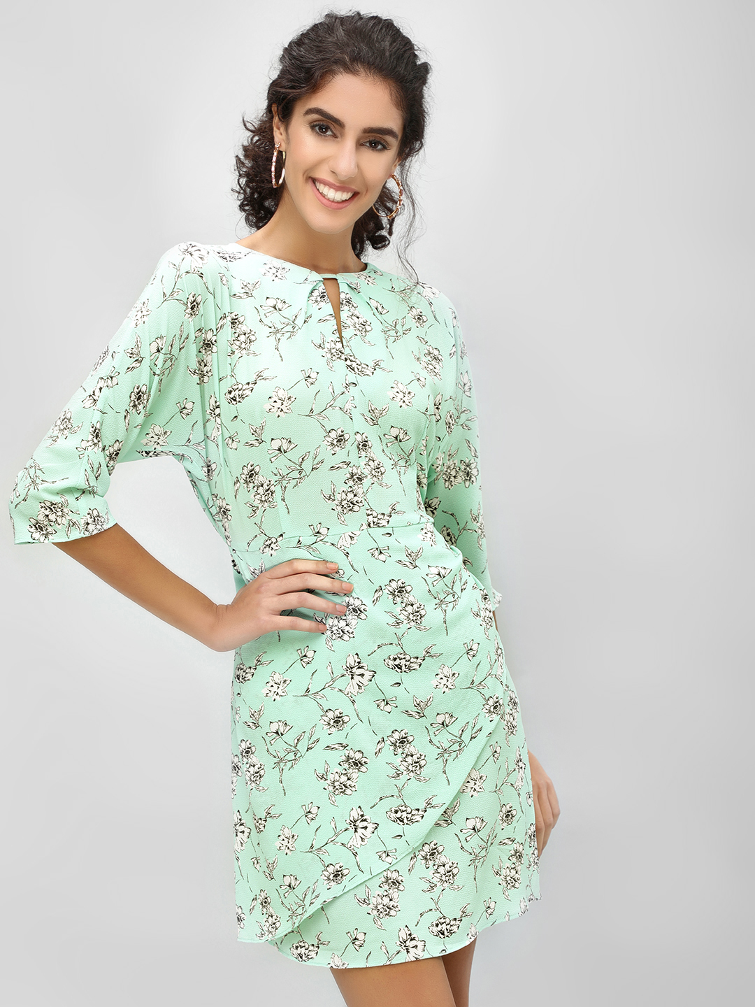 Cover Story Print Floral Print Shift Dress 1