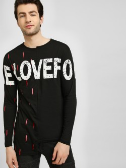 KUNAL RAWAL X KOOVS Half And Half Glitch Neck T-Shirt