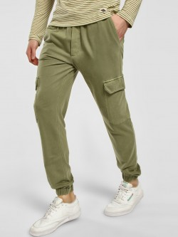 KOOVS Pigment Wash Drop Crotch Joggers