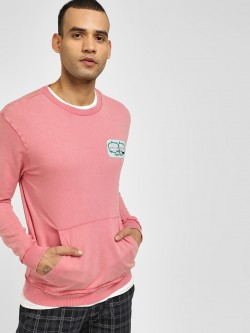 KOOVS Love Hate Patch Sweatshirt