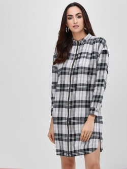 Bhaane Checkered Shirt Dress