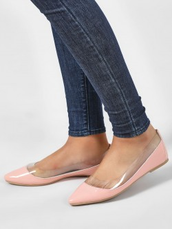 KOOVS Vinyl Ballet Flat Shoes