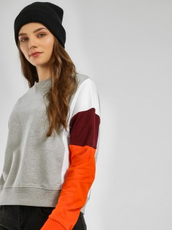 Bellfield Colour Block Sleeve Sweatshirt