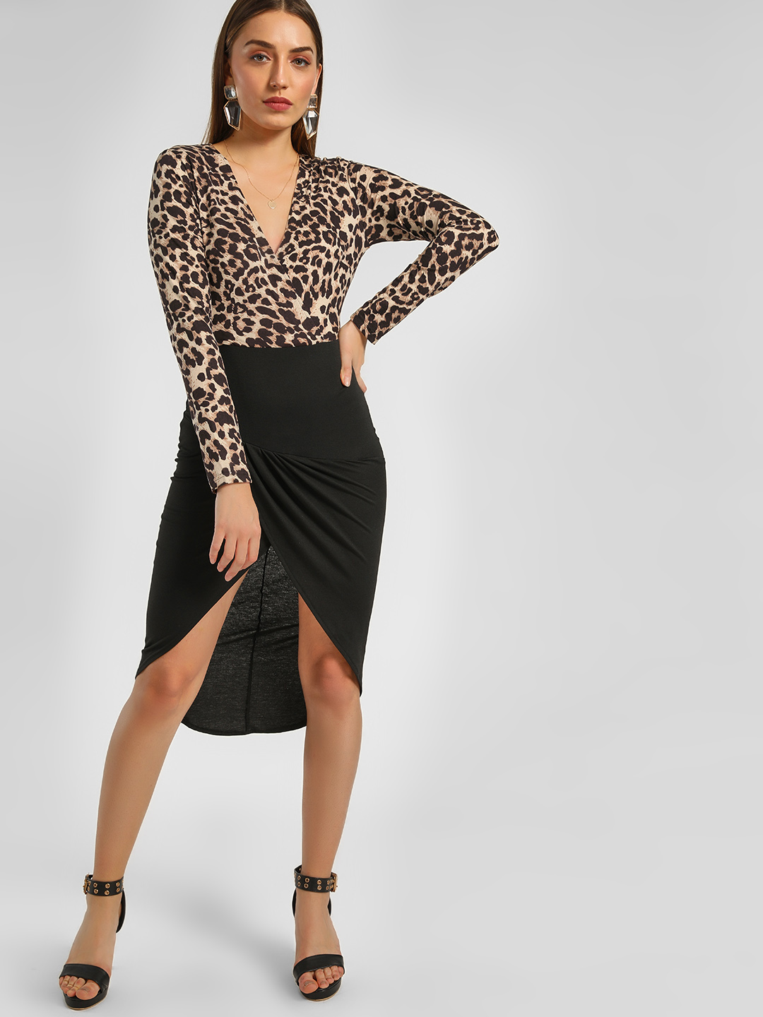 Ax Paris Multi Animal Print Midi Dress 1