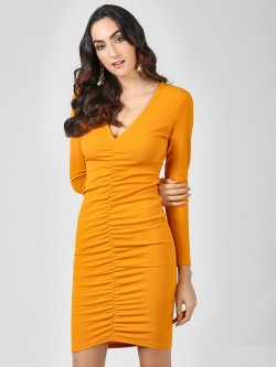 Ax Paris Ruched Bodycon Mini Dress