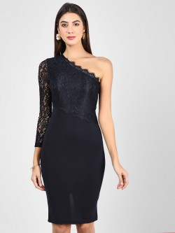 Ax Paris One Shoulder Lace Bodycon Dress