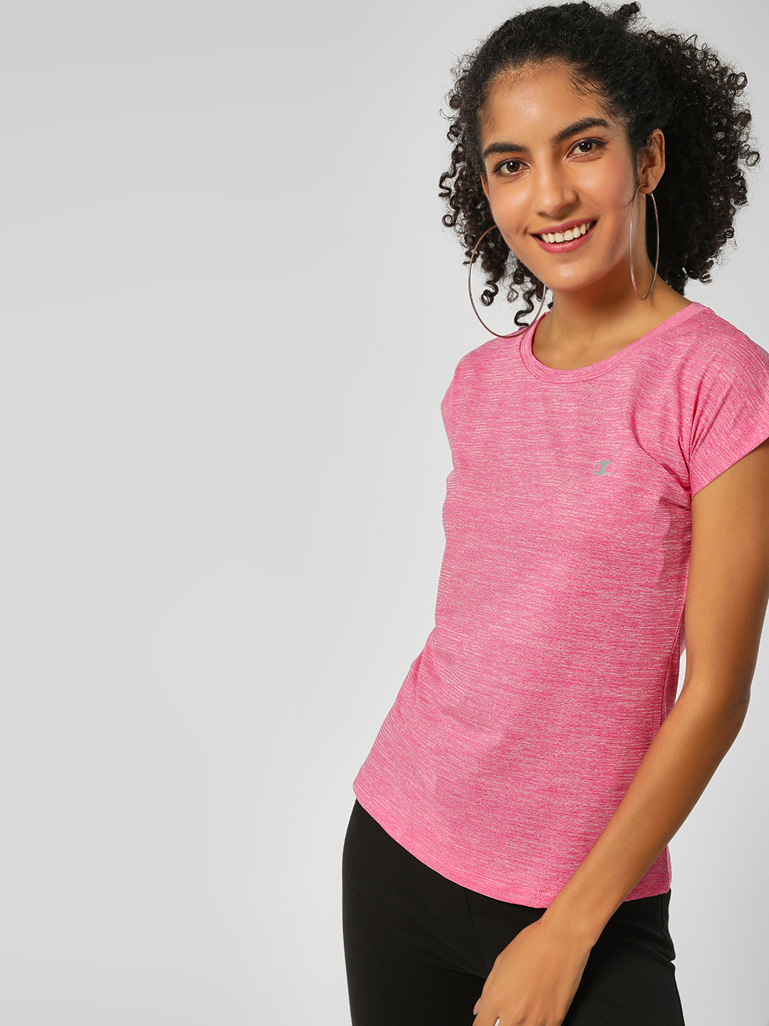 Champion Pink Space Dyed T-Shirt 1