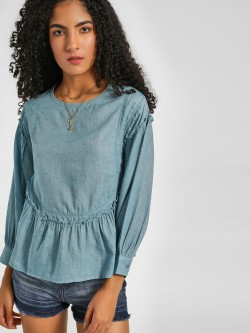 Lee Cooper Frill Peplum Hem Top