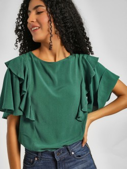 Lee Cooper Frill Detail Flared Sleeve Blouse