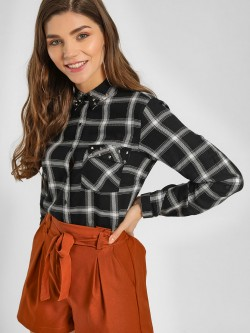 Lee Cooper Checkered Stud Shirt