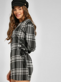 Lee Cooper Multi-Check Woven Shift Dress