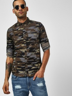 Vulcan Abstract Camo Print Casual Shirt