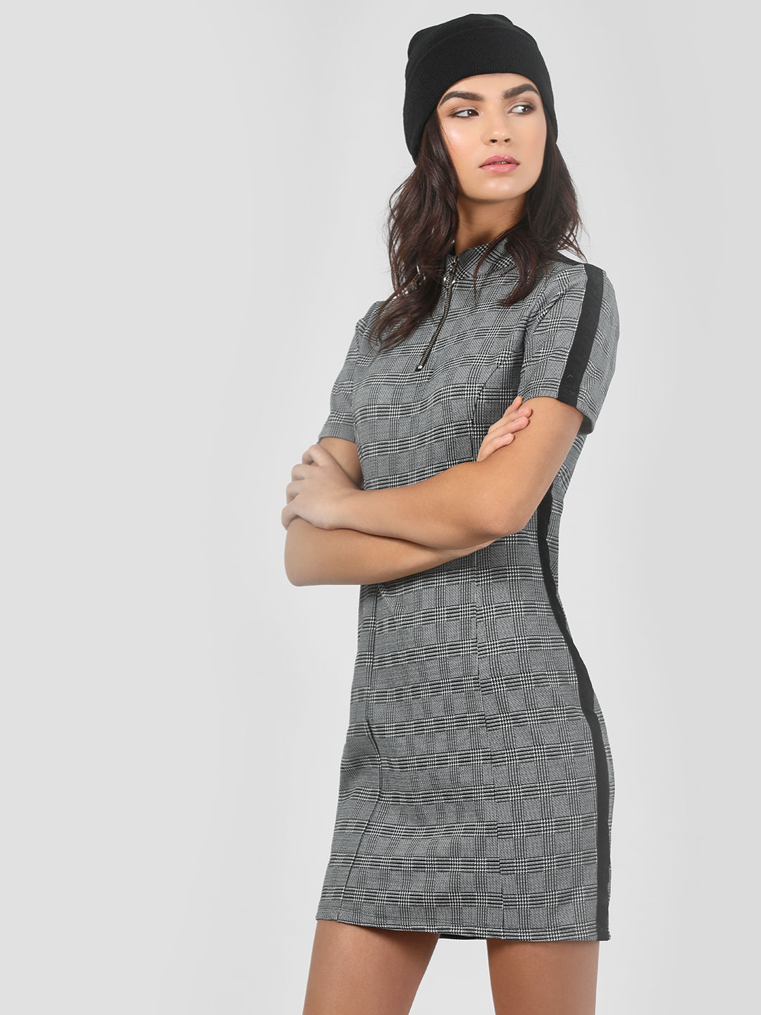 KOOVS Multi Contrast Tape Bodycon Dress 1