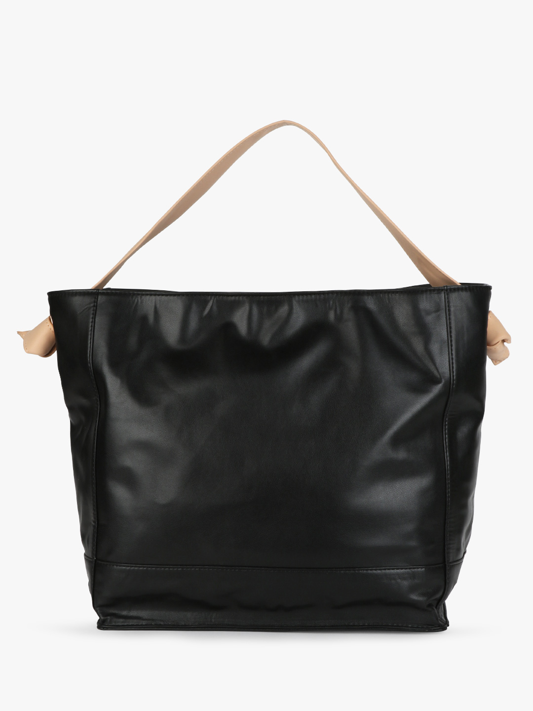 Paris Belle Black/Nude Basic Tote Bag With Knotted Strap 1